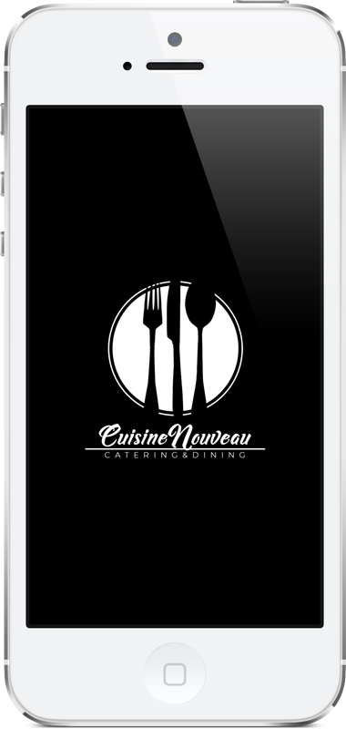 mobile phone mockup for catering company