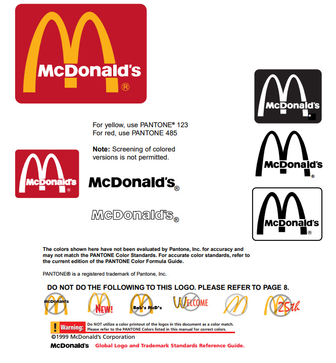 mcdonalds corporate identity Mcdonalds corporate identity topics: mcdonald's, customer, hamburger pages: 5 (1752 words) corporate identity is the most significant element to create and strengthen a company's industrial.