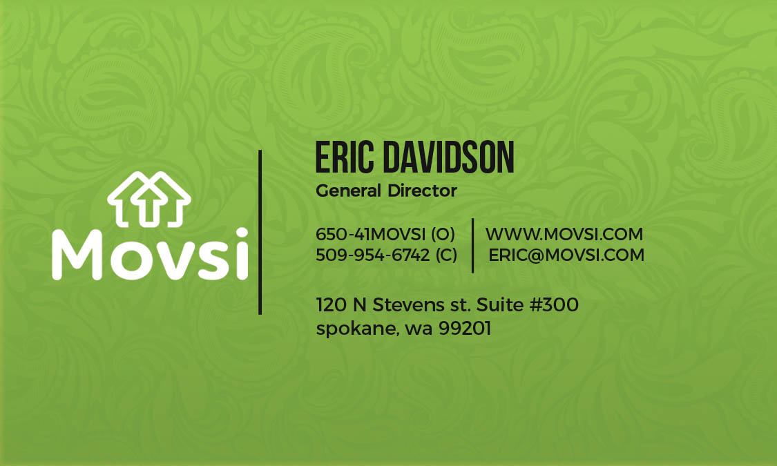 movsi business card design by launchedit